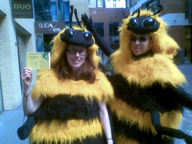 Busy bees campaigning in Covent Garden